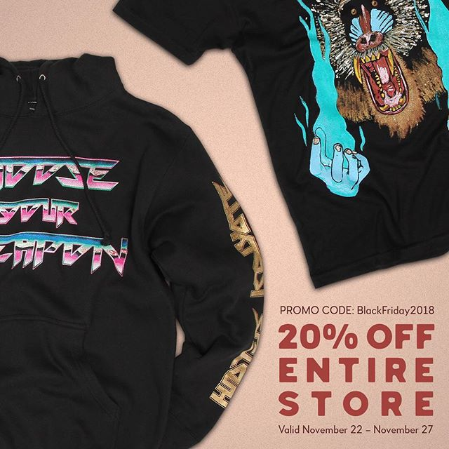 It's that time of year...you can get 20% anything from our US or UK merch stores between now and 27 November. All you have to do is click on merch from our website (link in bio) and enter the promo code BlackFriday2018 before you purchase. And to all our American fans, Happy Thanksgiving! 🦃 🍷 🥧 😋
