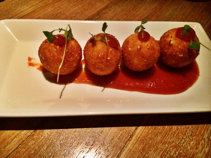 Goat Cheese Croquettes ~ Almond Crusted ~ Red Chili Guava