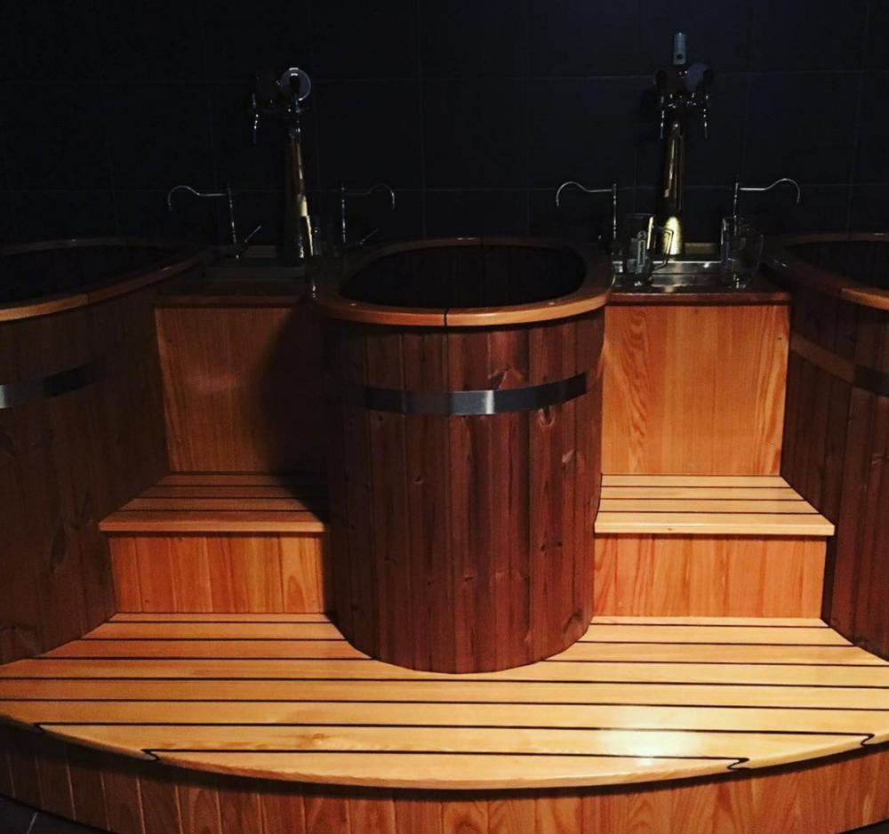 Beer baths at the beer spa in prague