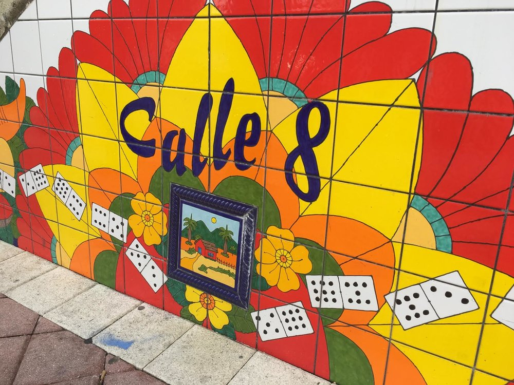 Calle Ocho really is as vibrant as this artsy tiled wall there!