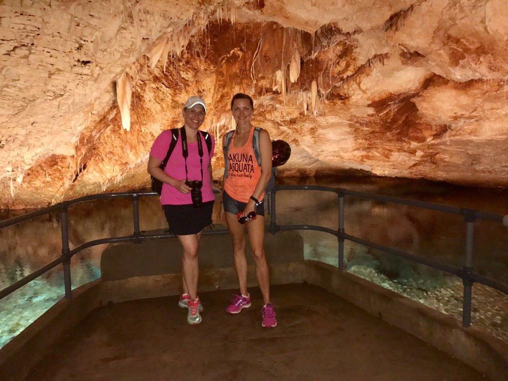 Laura and I in Fantasy Cave - Bermuda - Dana Chirps