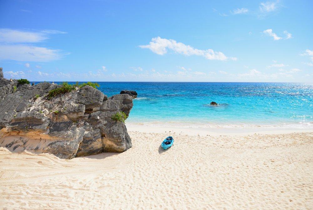 Bermuda - Blue Water and Blue Kayak - Dana Chirps