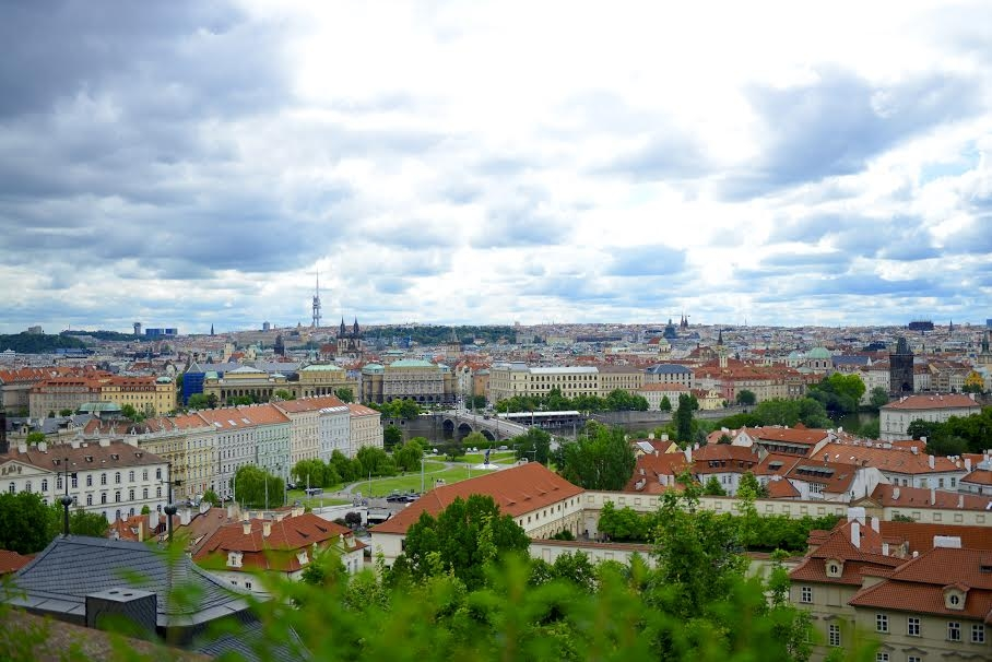 The view of the city of prague