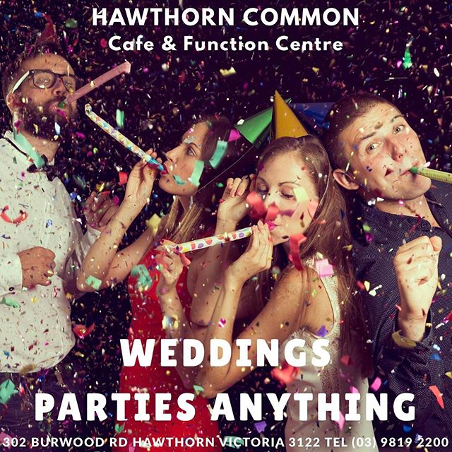 #functionvenuemelbourne#hawthorncommon#wedding#partylife#birthday#music#dj#dancing