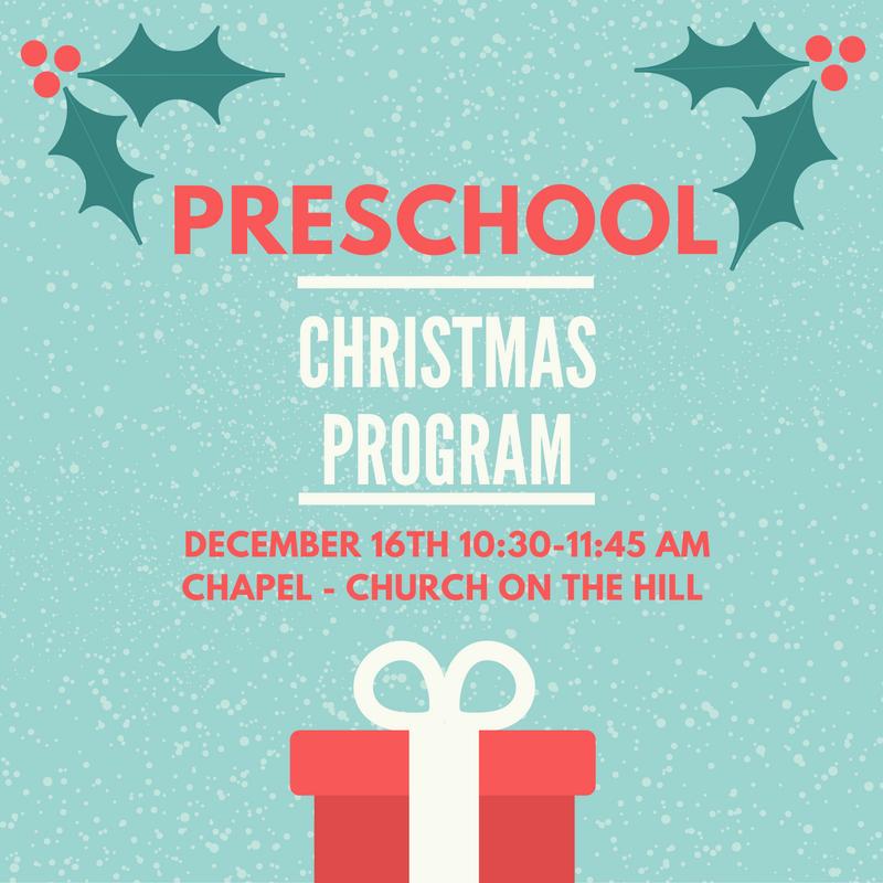 acs preschool christmas program