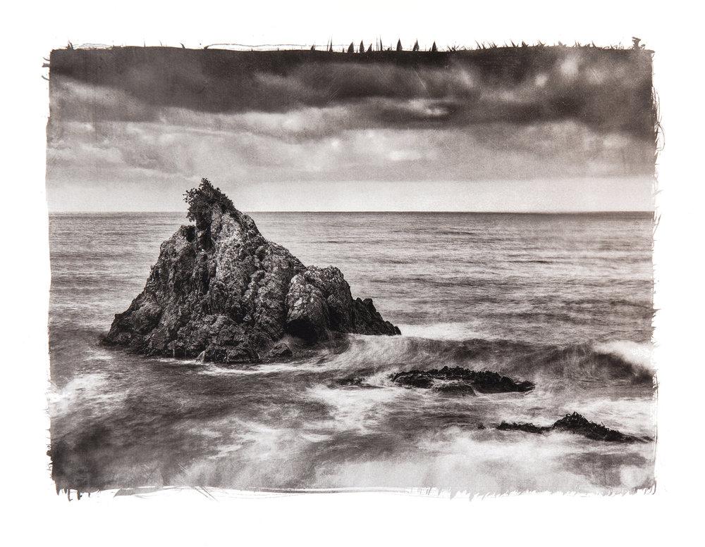 Kaikoura coast - platinum print