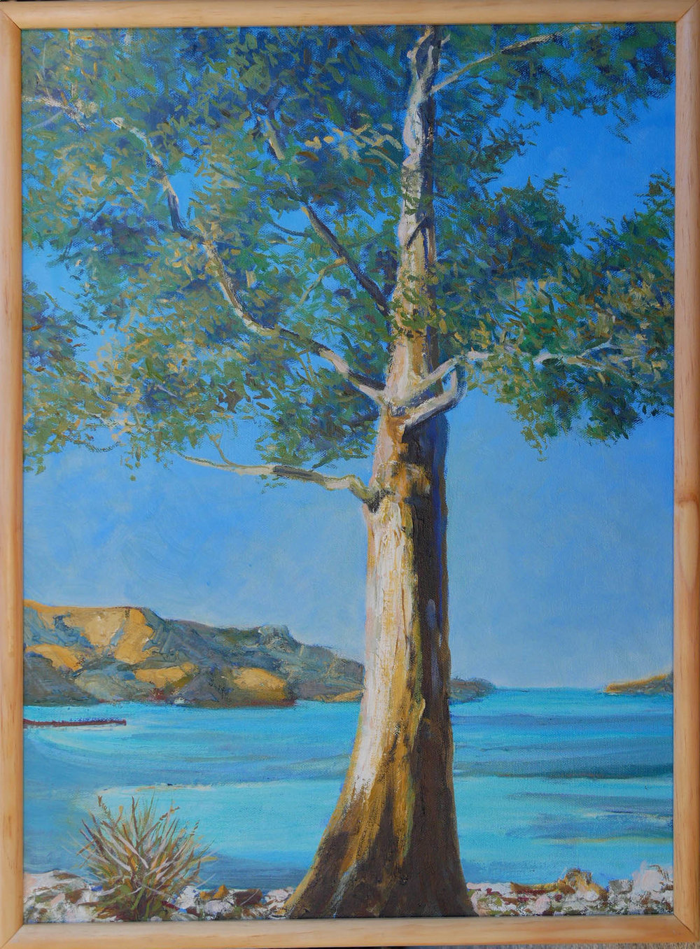 Lot 8: The Old Gum Tree - 460mm x 600mmOil