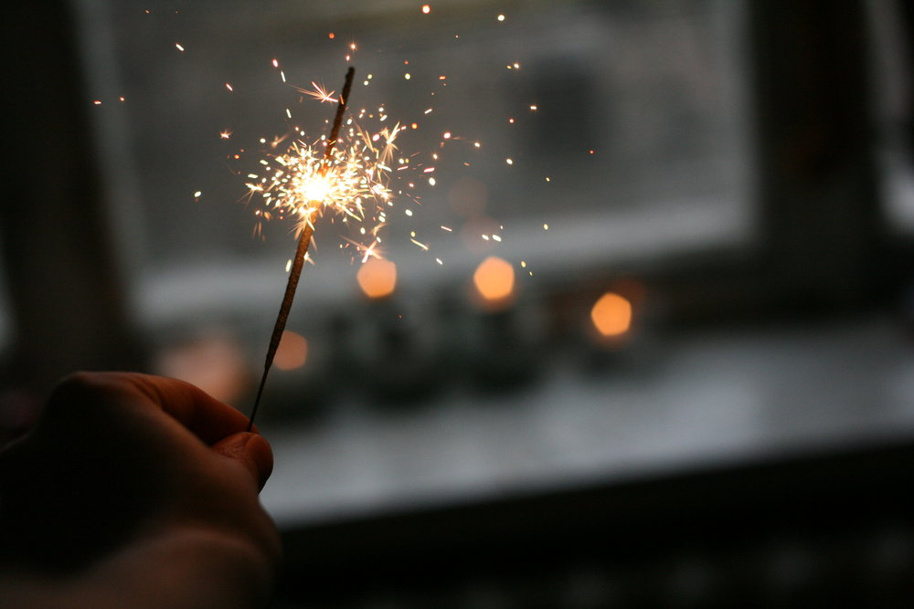 Happy New Year! - Wherever you are tonight, may your sparklers be bright, may your heart be full, and when counting the stars may you count yourself first.