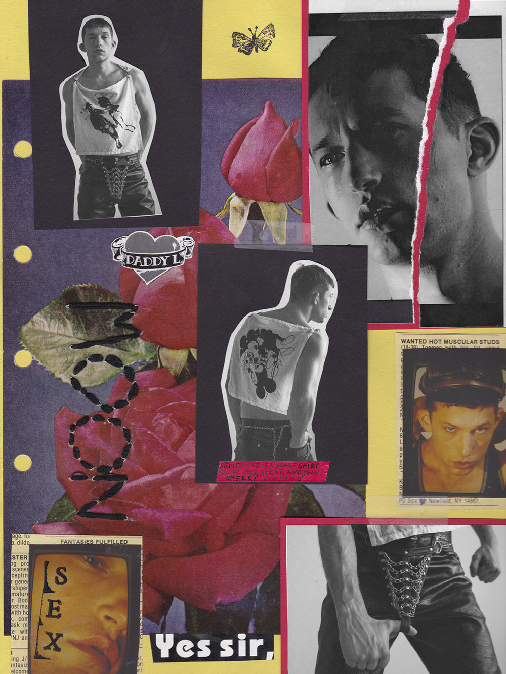 """I WANT ME."" REPLICA MAGAZINE Collage"