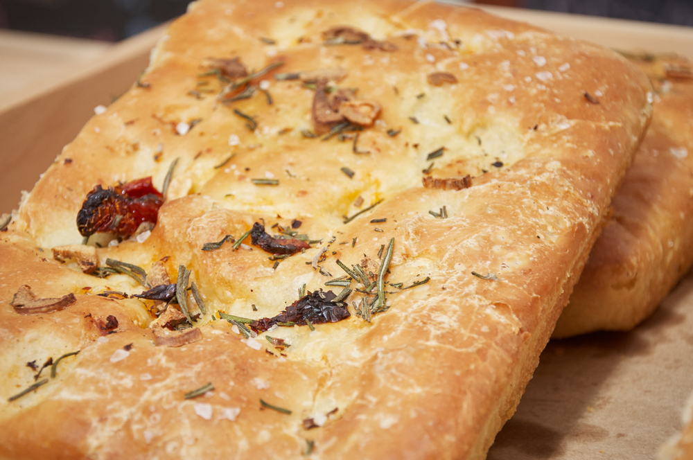 Sun-dried Tomato Garlic and Rosemary Focaccia