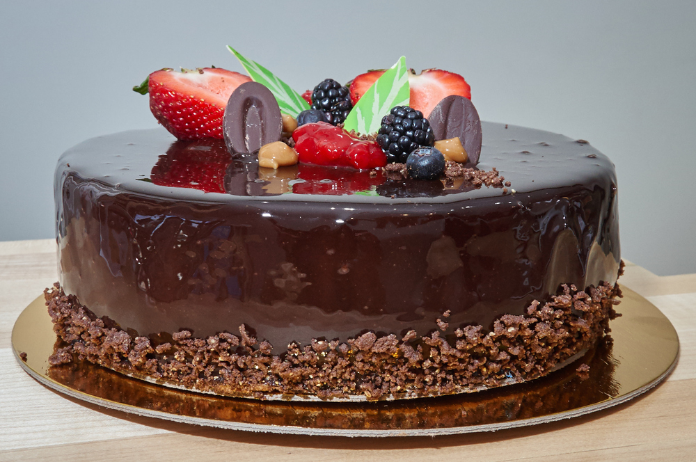 Flourless Chocolate Rum Mousse Cake