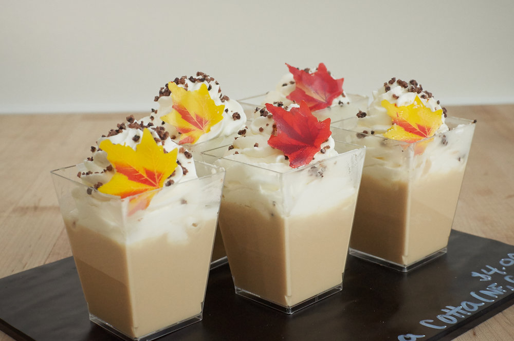 Caramelized White Chocolate Panna Cotta