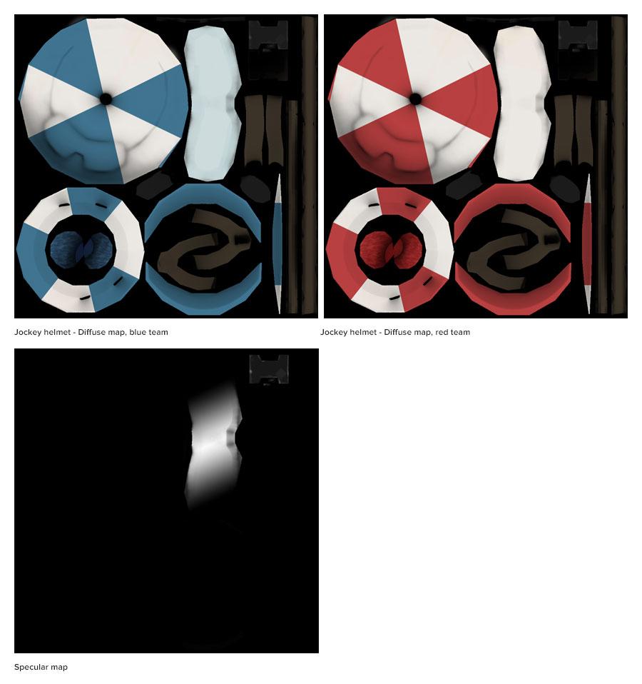 Jockey Helmet texture maps.