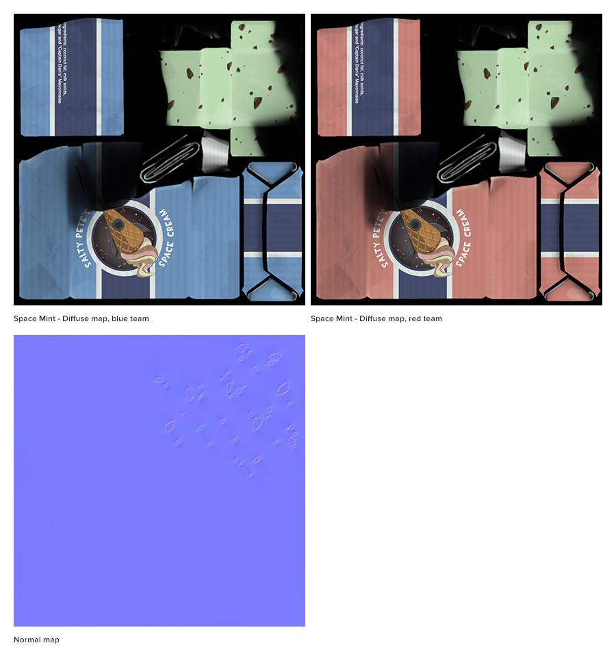 Space Mint texture maps