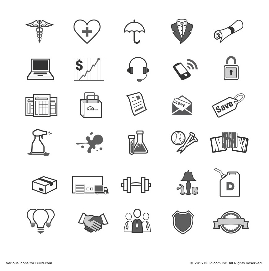 Various icons for Build.com