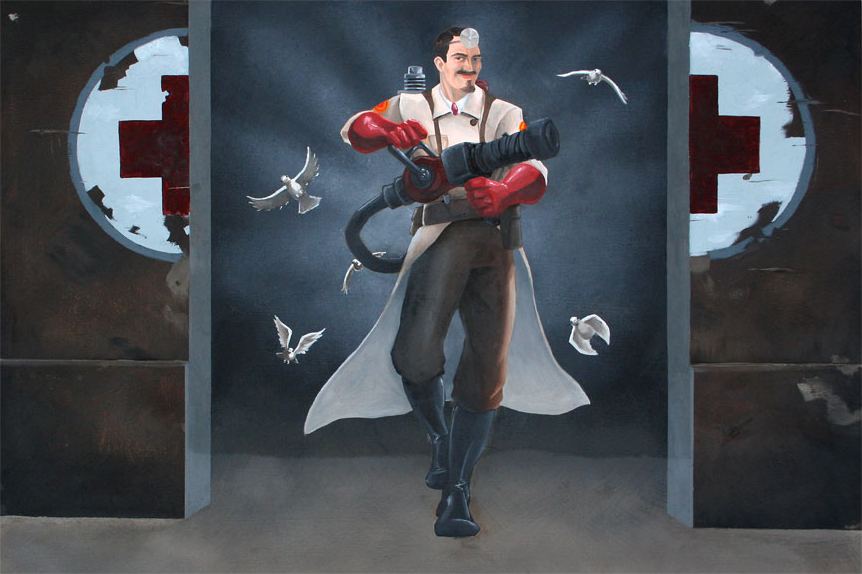 Silver Steel as TF2 Medic commision