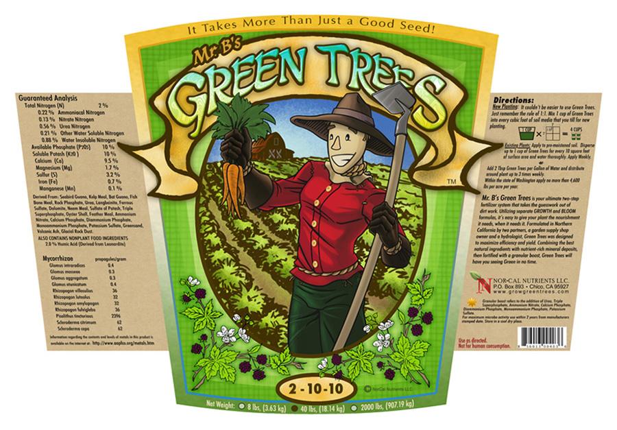 Mr. B's Green Trees Barn label