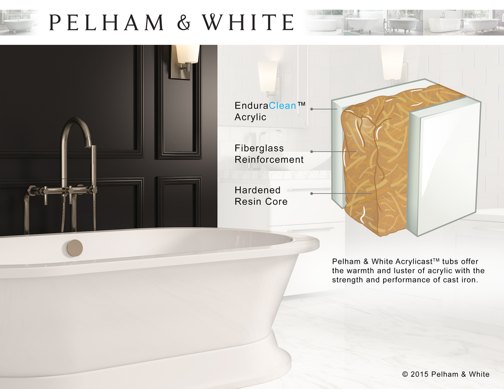 Pelham & White tub material illustration