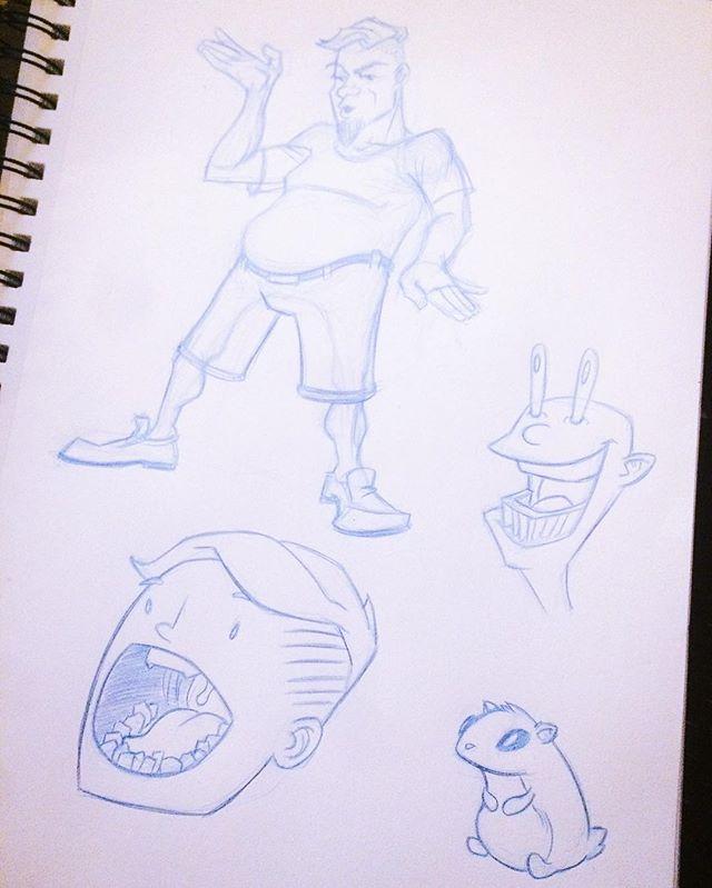 Doodling. #art #illustration #bluepencil #sketch #sketchbook #artistichappenings #selfieart #cartoon