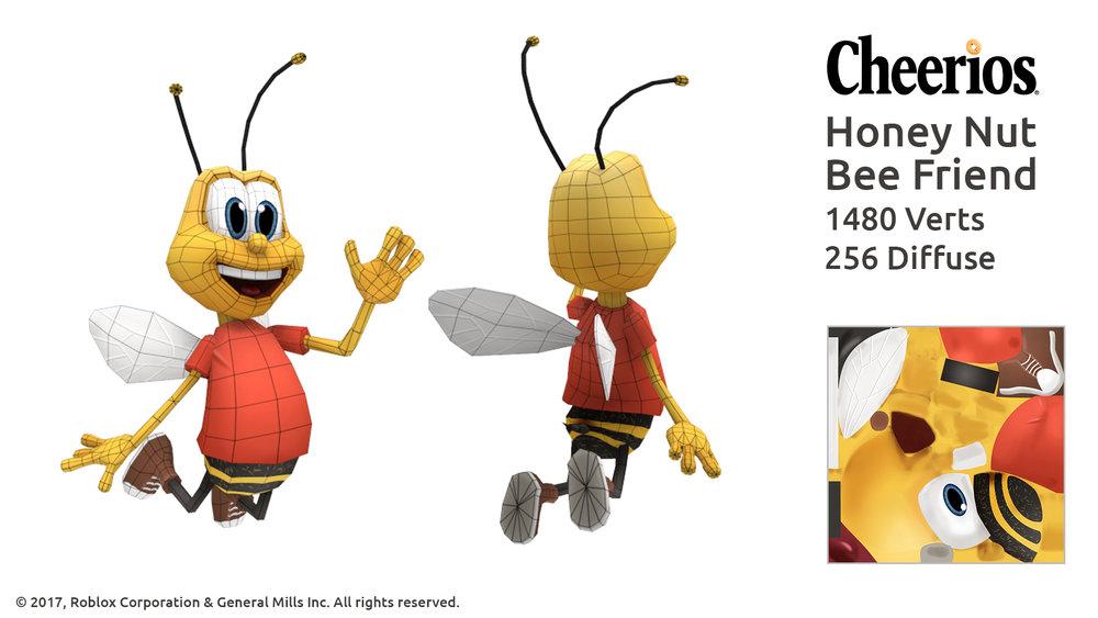 Honey Nut Cheerios Bee wireframe