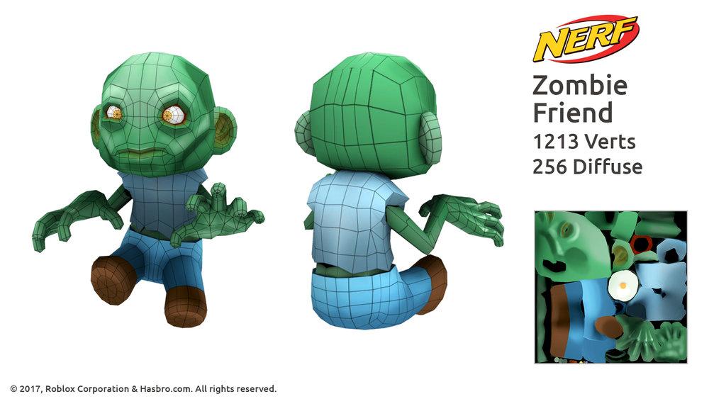 Nerf Zombie Friend wireframe