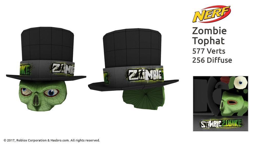 Nerf Zombie Mask wireframe