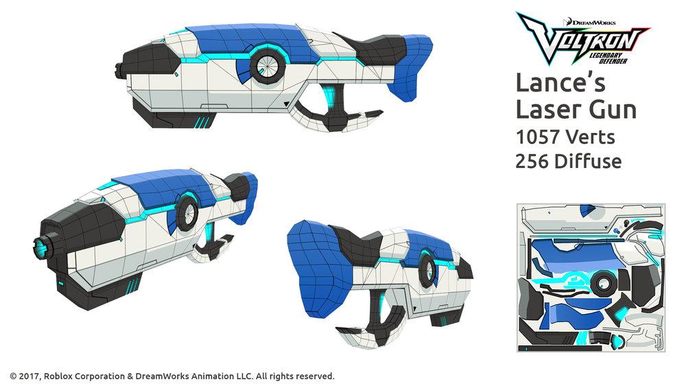 Voltron - Blue blaster wireframe