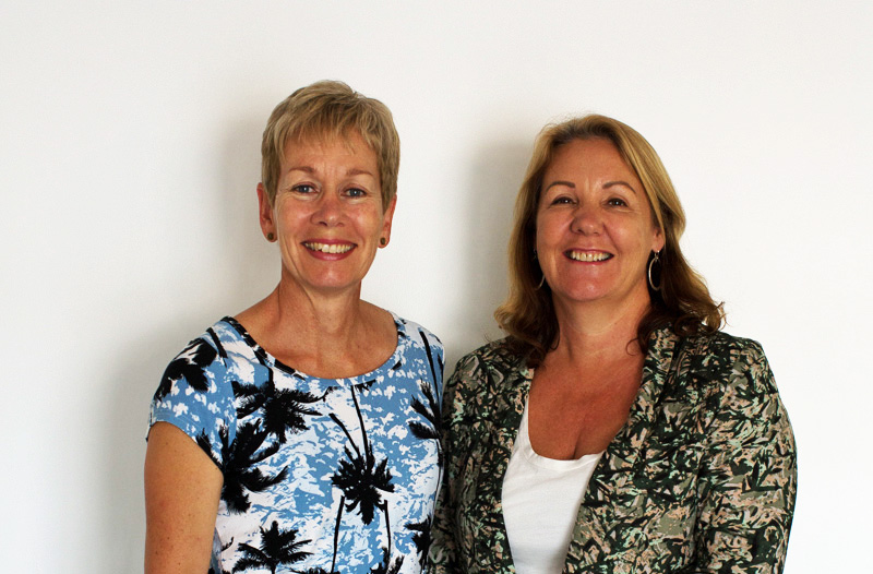 (From left): Anna Radford and Suzanne McNamara.