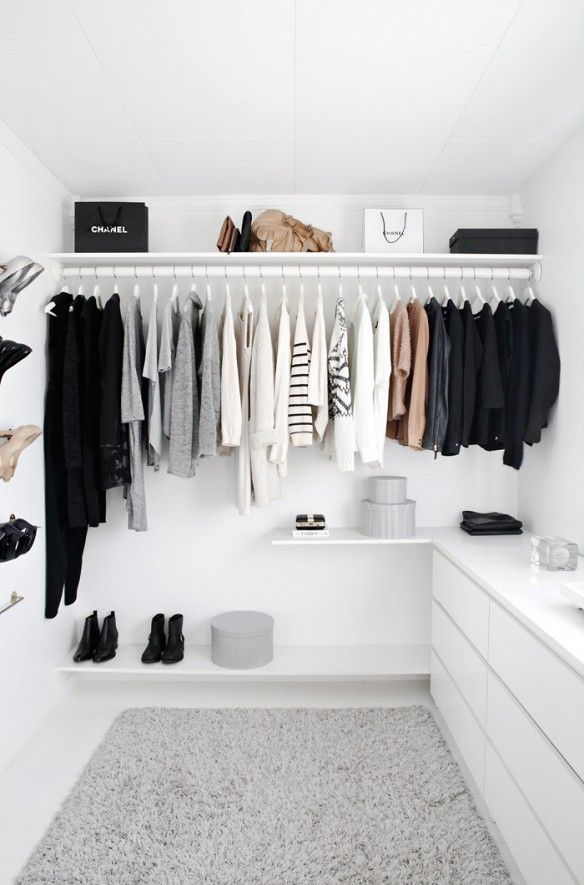 I Love How Clean And White And Perfect This Closet Is. I Especially Love  The Shelf That Goes All The Way Across The Top And Bottom, And The Hat Box.