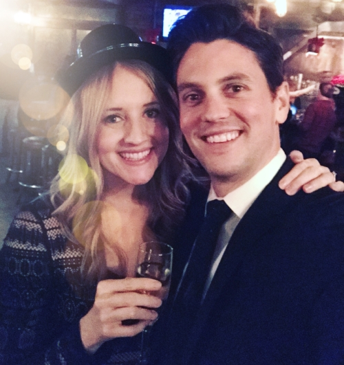 He rocked his new tie on NYE, and I rocked the same dress I wore last NYE.