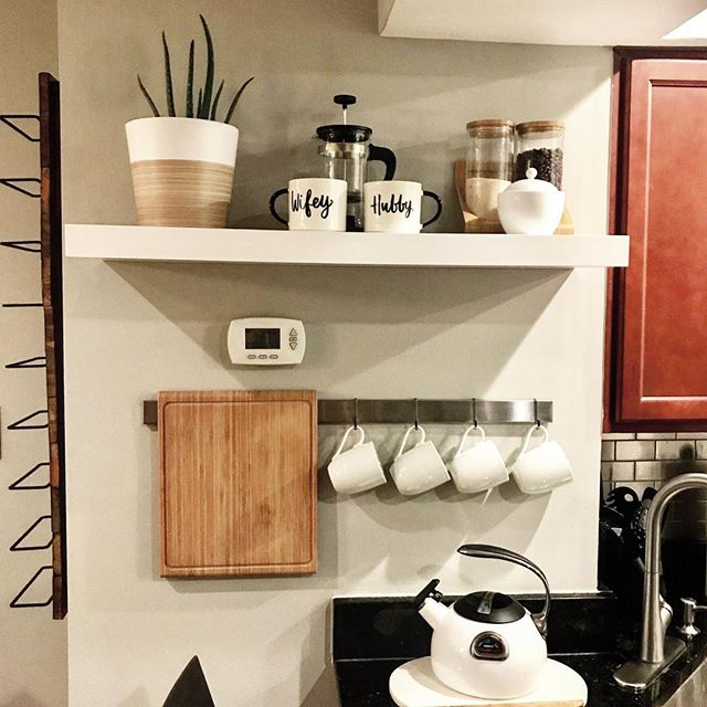 Coffee bar for the win. . . . #targetdoesitagain #target #targethome #wayfair #ikea #ikeakitchen #thatsdarling #DScolor #DSpattern  #foundforaged #DStexture #ABMathome #housetour #currentdesignsituation #finditstyleit #smallspacesaquad #modernhome #interior123