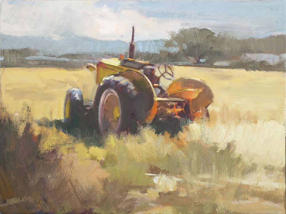 Scene painted from the Fleeman's family farm