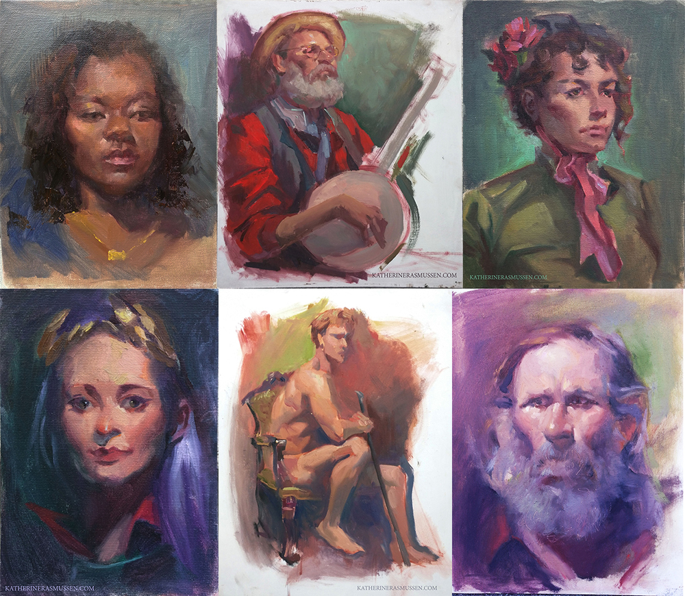 Various Classroom Portraits, done in 3 hours.