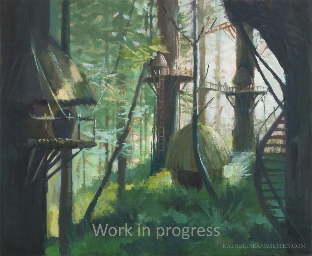 Forest moon of Endor - Star wars study, Still in progress