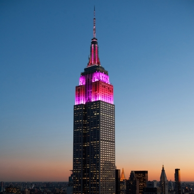 Empire State Building lit up for Valentine's Day
