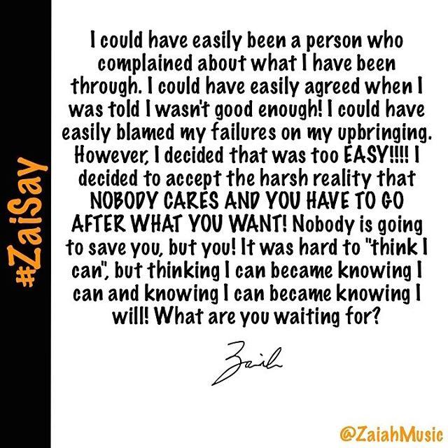 #ZaiSay #ZaiahMusic #lifequotes