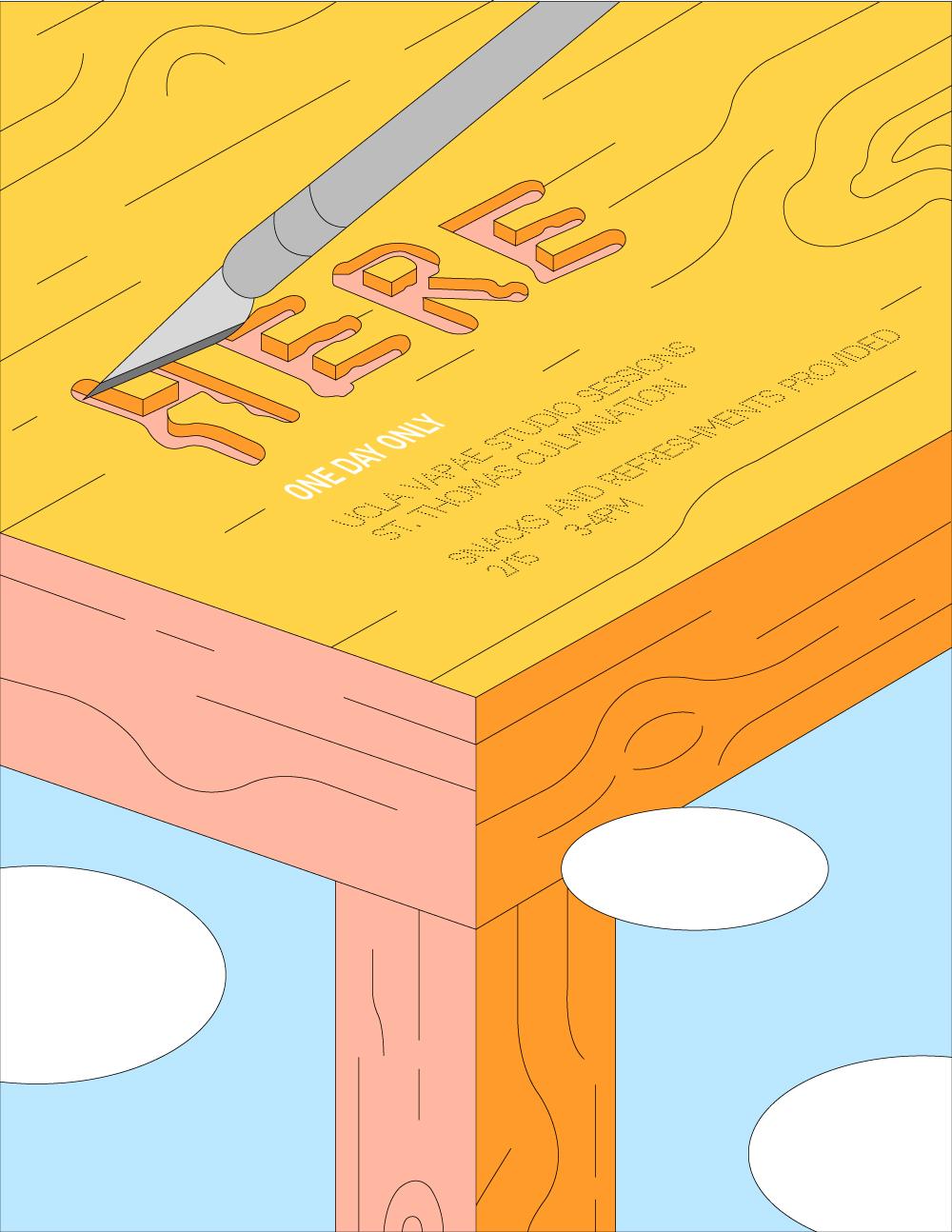 Poster Design for  UCLA VAPAE's Culmination Art Event