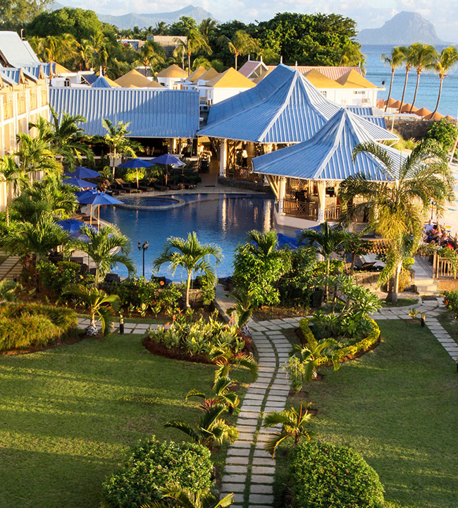 PEARLE BEACH RESORT & SPA - OVERVIEW OF THE GARDEN,RESTAURANTS & POOL AREA