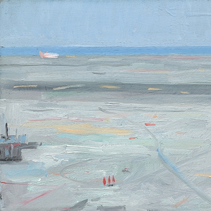 Shaun Tan Airport Tarmac  2011 Oil on board 20 x 15cm $1450