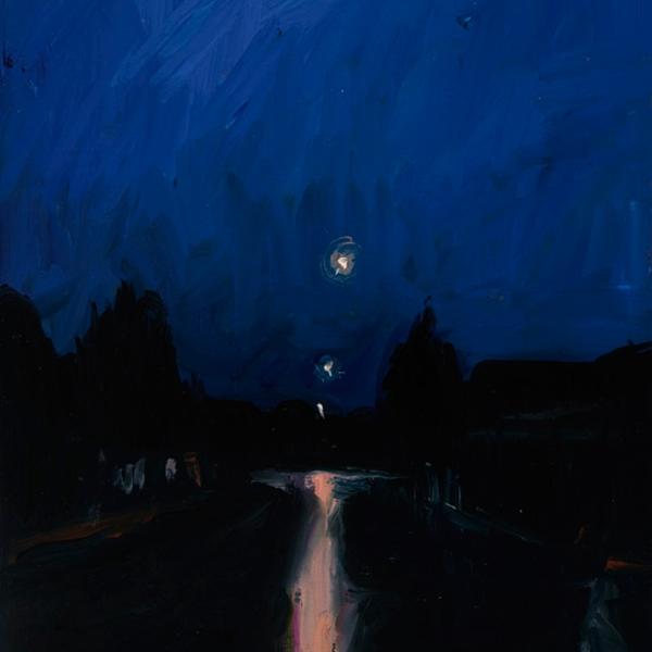 Shaun Tan Blue night, Switzerland 2012 Oil on board 20 x 15cm $1450