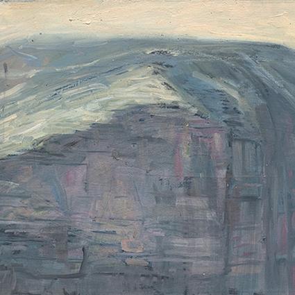 Shaun Tan Cliff, Edinburgh 2012 OIl on board 20 x 15cm $1450