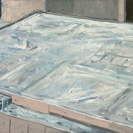 Shaun Tan Concrete rooftop, Adelaide  2012 Oil on board 20 x 15cm $1450