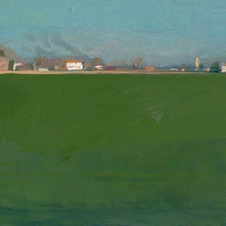 Shaun Tan Green Field, Italy 2015 Oil on board 20 x 15cm $1450