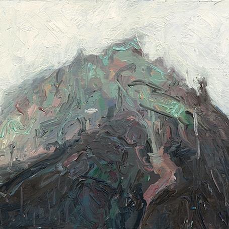Shaun Tan Mountain 2015 Oil on board 20 x 15cm $1450