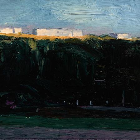 Shaun Tan Park, Helsinki 2013 Oil on board 20 x 15cm $1450