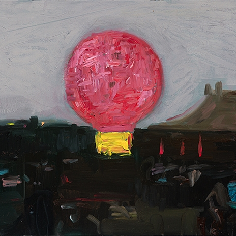 Shaun Tan Pink lantern, Taipei  2012 Oil on board 20 x 15cm $1450