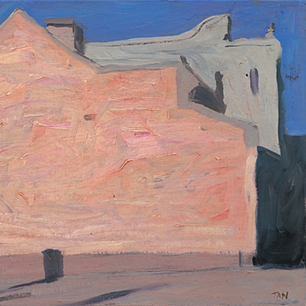 Shaun Tan Pink wall, Parkville  2010 Oil on board 20 x 15cm NOT AVAILABLE