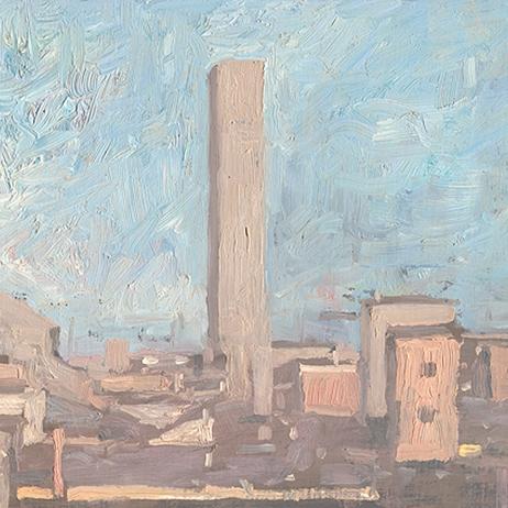 Shaun Tan Tower, Bologna 2010 Oil on board 20 x 15cm $1450