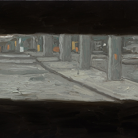 Shaun Tan Underground carpark, Melbourne  2013 Oil on board 20 x 15cm $1450