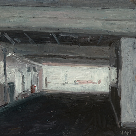 Shaun Tan Underpass, Napier  2012 Oil on board 20 x 15cm NOT AVAILABLE